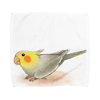 オカメインコ レキ【まめるりはことり】 Towel handkerchiefs
