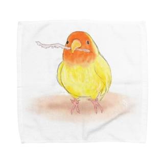 コザクラインコ レイ【まめるりはことり】 Towel handkerchiefs