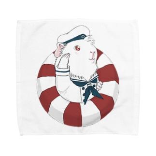 水兵モルモット Towel Handkerchief