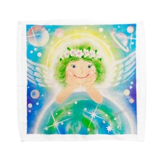 スターシードな天使ちゃん Towel handkerchiefs