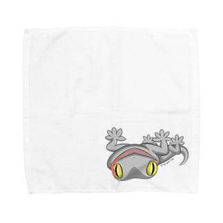 ニホンヤモリ舌出しミニタオル(L) ※Lサイズ限定 Towel handkerchiefs