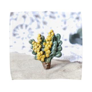 陶土ミモザ&ユーカリブーケ  Towel handkerchiefs