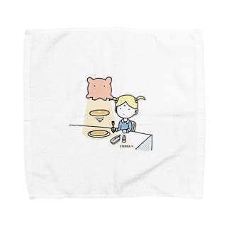 メンダコlovesパンケーキ Towel handkerchiefs
