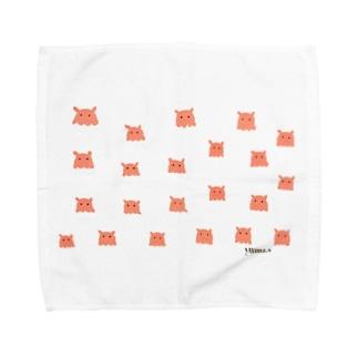 ベガのひつじのメンダコドット Towel handkerchiefs