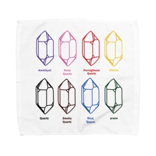 鉱式-SQUARE.crystallogram5.3multi-quartz Towel handkerchiefs