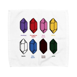 鉱式-SQUARE.crystallogram5.3blackpaint-quartz Towel handkerchiefs