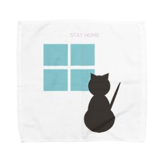 ねこSTAYHOME Towel handkerchiefs