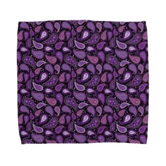 ペイズリー柄 パープル Towel Handkerchief
