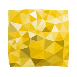 Yellow-Polygon Towel handkerchiefs