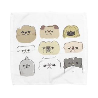 ペキニーズ達 Towel handkerchiefs