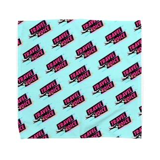 トラベルボイス ロゴ総柄グッズ Towel handkerchiefs