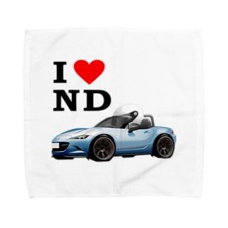 NDハンカチタオル青 Towel handkerchiefs
