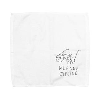 メガネと自転車を愛する人のための Towel handkerchiefs