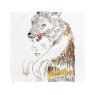 狼の皮を被った女の子 Towel handkerchiefs