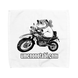 モノトーンはむすた Towel handkerchiefs
