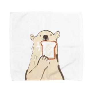 食パンとしろくま Towel handkerchiefs