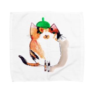みどりぼうしねこ Towel handkerchiefs