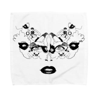 仮面#1 Towel handkerchiefs