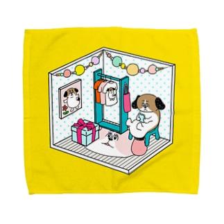 もじゃまるくつろぎ Towel handkerchiefs