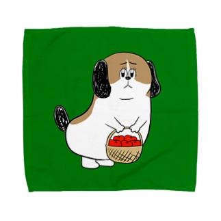 もじゃまるお見舞い Towel handkerchiefs
