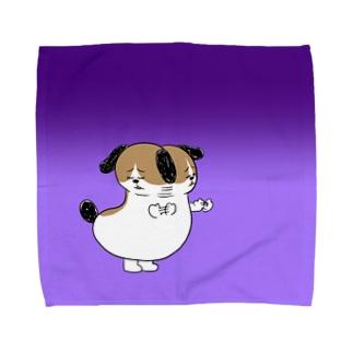 もじゃまるいやいや Towel handkerchiefs