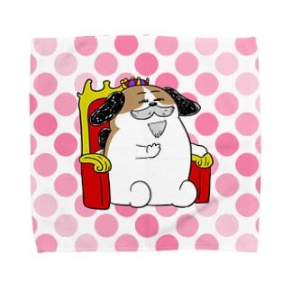 もじゃまる王様 Towel handkerchiefs