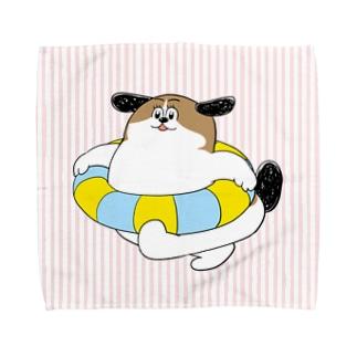 もじゃまるうきわ Towel handkerchiefs