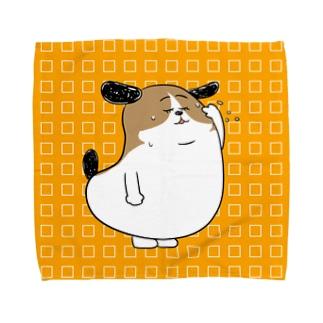 もじゃまるひといき Towel handkerchiefs