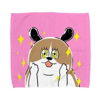 もじゃまるときめき Towel handkerchiefs