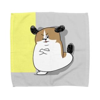 もじゃまる壁際 Towel handkerchiefs