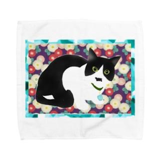 ハチワレはまぐりちゃん Towel handkerchiefs
