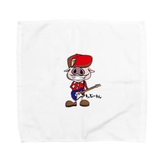 ギタリストPig🐽りぶーとん Towel handkerchiefs