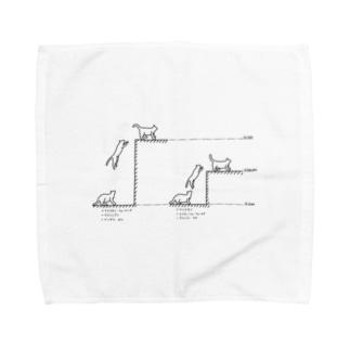 たるき工房の猫モジュール Towel handkerchiefs