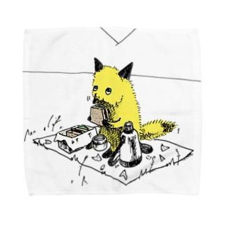 きつねさんシリーズ(ピクニック) Towel handkerchiefs
