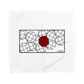 鉱式-RECTANGLE.crystallogram8.1blackpaint-garnet Towel handkerchiefs