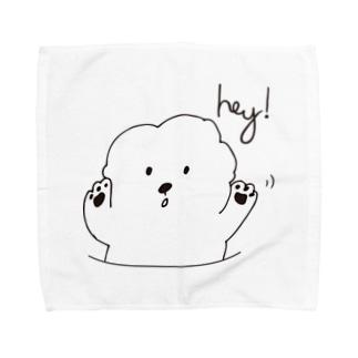 Hey!Bichon Towel handkerchiefs