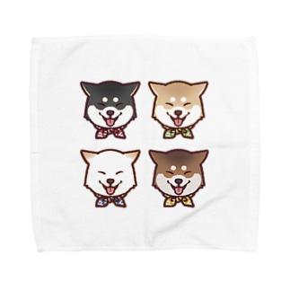 スマイル柴犬(スクエア) Towel handkerchiefs