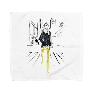 ヨシダエリのGIRL Towel handkerchiefs