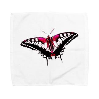 Shocking Red Butterfly Effect Towel handkerchiefs