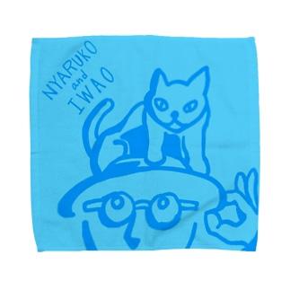 にゃること岩男 タオルハンカチ専用デザイン Towel handkerchiefs