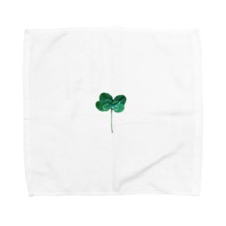 幸運運ぶ四つ葉のクローバー Towel handkerchiefs