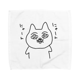 にゃーん にゃーん Towel handkerchiefs