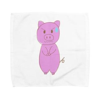 かしこまりぶた Towel handkerchiefs
