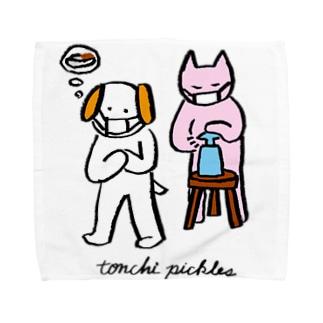 アルコールをシュッシュッ Towel handkerchiefs