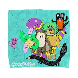 ココシバ×Sonopuro-Nopuro Towel handkerchiefs