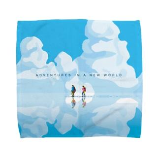 httrの青い世界。 Towel handkerchiefs