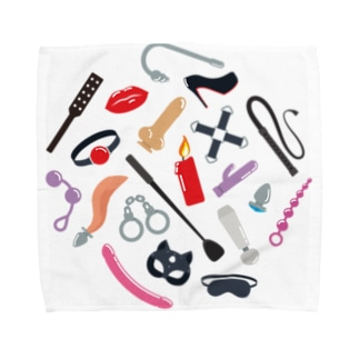 BDSM Icons (Color 01) Towel handkerchiefs