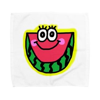 スイカくん🍉💗 Towel handkerchiefs