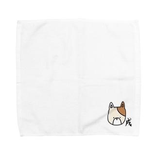 あおい¨̮♪の戌 いぬ Towel handkerchiefs