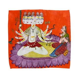 シヴァを崇めるパールヴァティ Towel handkerchiefs